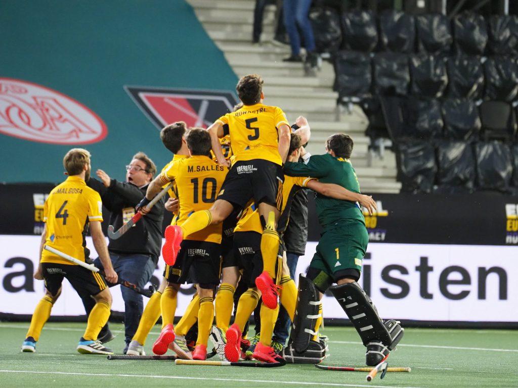 Atletic Terrassa wint in de andere halve finale in de EHL en is de opponent van Bloemendaal.