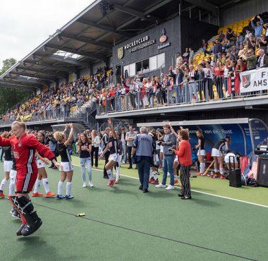 Amsterdam viert feest in de gewonnen finale van 2019.