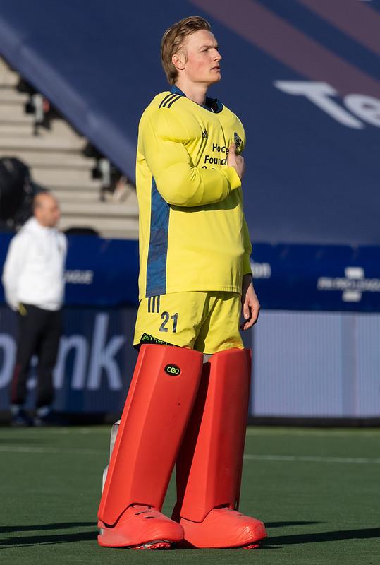 Maurits Visser viel af als keeper voor de Olympische Spelen van 2021.