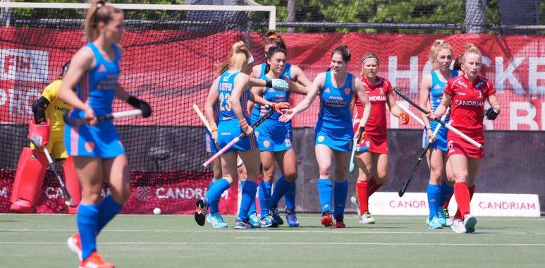 Stella van Gils speelt een prima eerste wedstrijd voor Oranje.