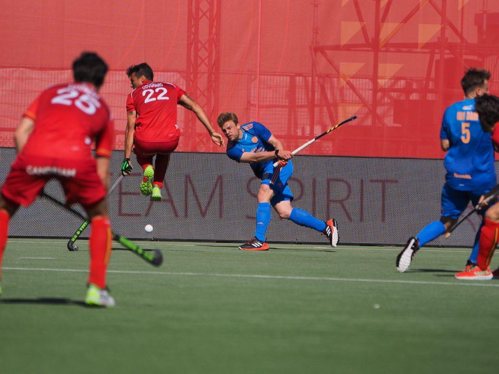 Mink van der Weerden speelde een degelijke wedstrijd tegen België.