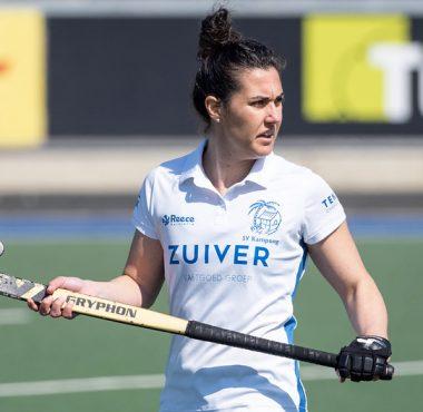Chiara Tiddi maakt zich klaar voor het EK in Amstelveen.