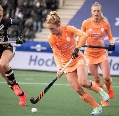 Laura Nunnink werd vandaag verkozen tot topspeelster van de wedstrijd.