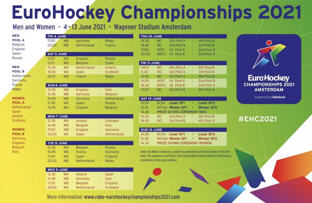 Het EHF heeft zojuist het programma voor het EK bekend gemaakt.