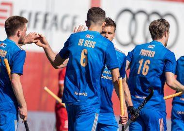 De Nederlandse heren spelen op het EK Hockey tegen Duitsland.