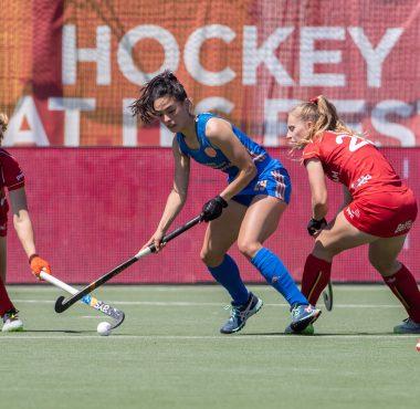 Pauline LeClef plaatste zich met België voor de halve finale van het EK.