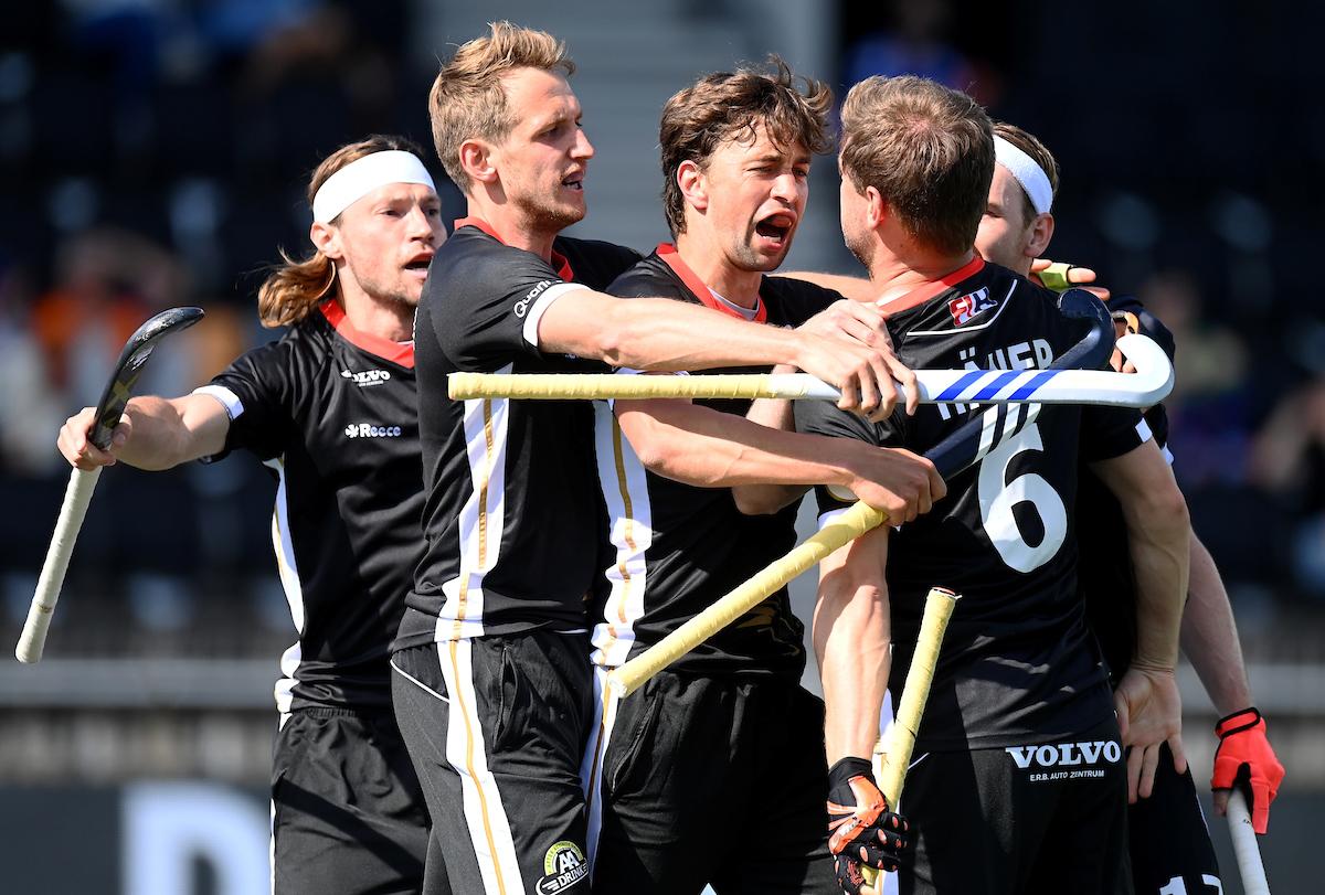 De Heren van Duitsland staan in het eerste kwart van het EK Hockey al op een ruime 3-1 voorsprong.