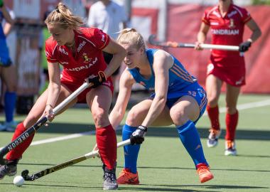 Ilse Kappelle mocht op het EK Hockey 2021 meer vanuit de as opereren.