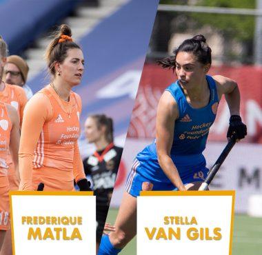 Topspeelsters van het EK Hockey waren Stella van Gils en Frederique Matla.