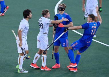 Op het EK Hockey kregen de Nederlandse heren het aan de stok met de Belgische opponent.