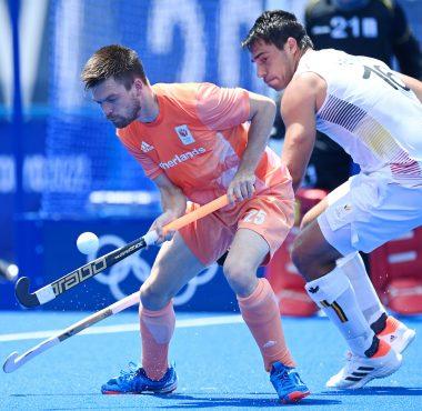 Thierry Brinkman speelde een uitstekende eerste helft voor Oranje.