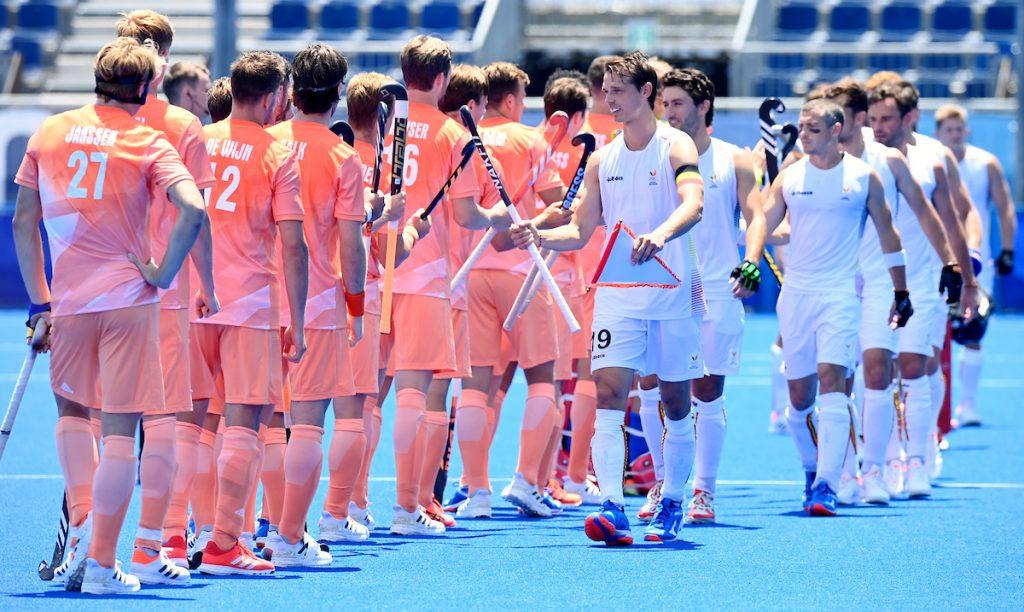 De twee titelkandidaten België en Nederland troffen elkaar vandaag in de eerste ronde van de Olympische Spelen.