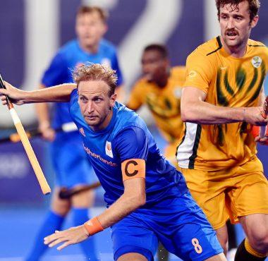 De Nederlandse hockeyheren winnen in de tweede helft op de Olympische Spelen van Zuid-Afrika.