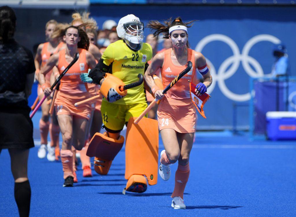 Eva de Goede loopt voorop bij de line-up van Oranje.