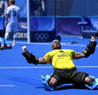 India wint de bronzen medaille op de Olympische Spelen.