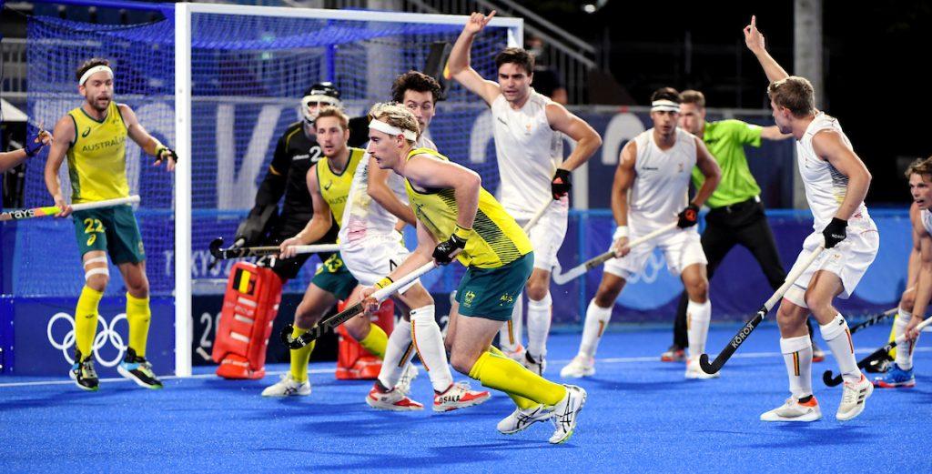 Aran Zalewski in actie voor Australië.